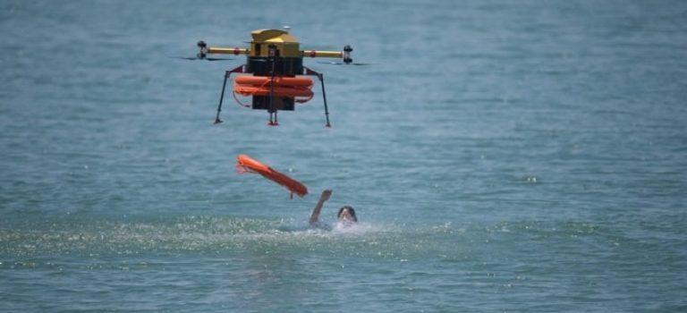 طائرات بدون طيار … تعمل كمنقذ للحياة على الشواطيء فى كوريا الجنوبية